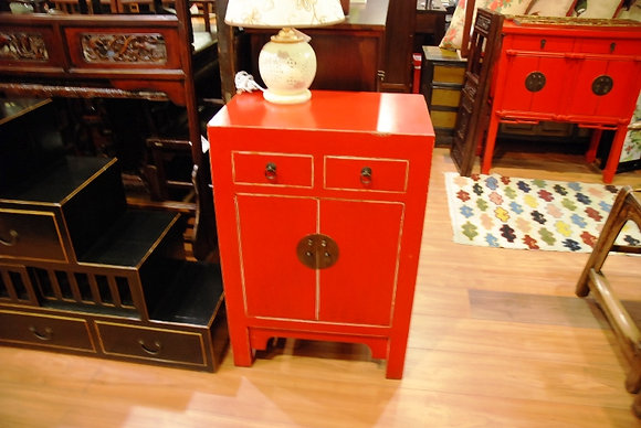 Red Cabinet 2 Dr 2 Drws Cabinet
