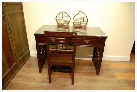 Elm Wood, 2 Drawers Desk