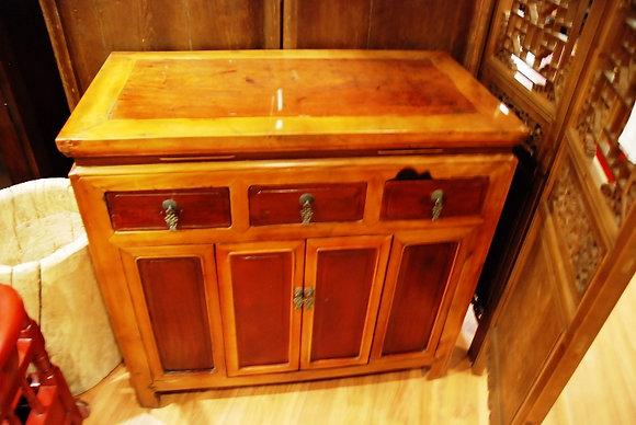 Antique 3 Drawers 2 Doors Cabinetk90ju