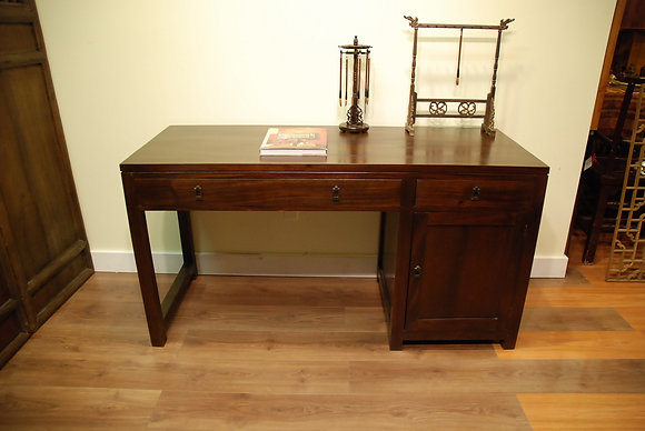 Teak Wood 2 Drawers 1 Door Desk