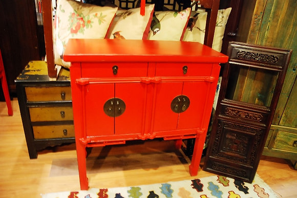 Red Cabinet 2 Drws 4 Drs Cabine