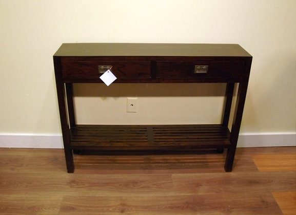 Elm Wood 2 Drawers Side Cabinet