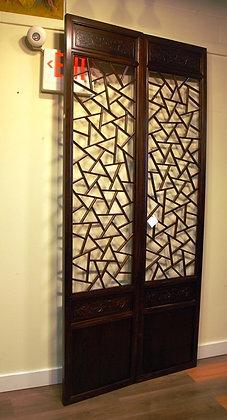 Elm Wood,Screen Door,both side carved