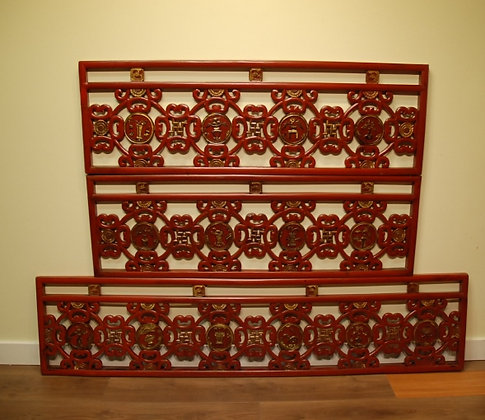 Chinese Antique Screen Set of 3