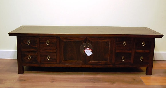 Elm Wood 2Doors 2 Drawers TV Cabinet