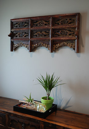 Antique Carved Wood Panel