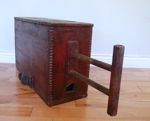 antique wood wind box