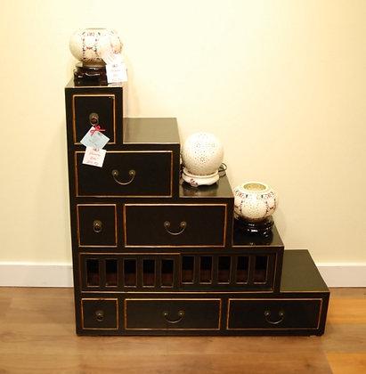 Black Step Cabinet