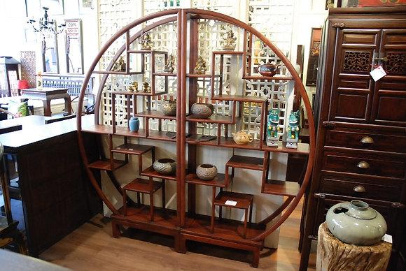 Elm Wood Round Cabinet (Pair)