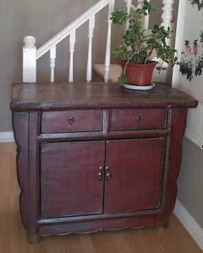 Antique Red Cabinet