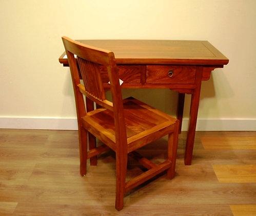 Elm Wood 2 Drawers Desk