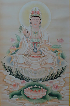 Guanyin.  Goddess of Mercy 觀世音 Painting
