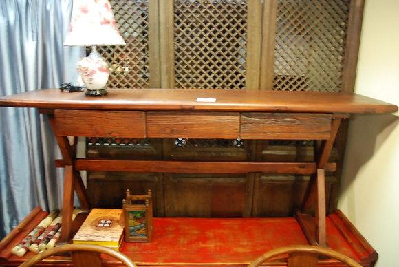 Elm Wood 3 Drawers Desk