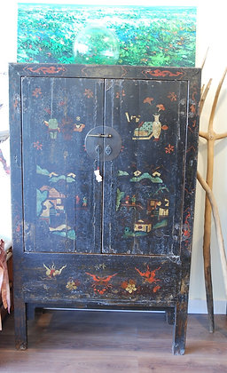 Chinese Antique Black Cabinet