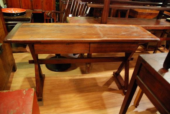 Elm Wood. 2 Drawers Desk