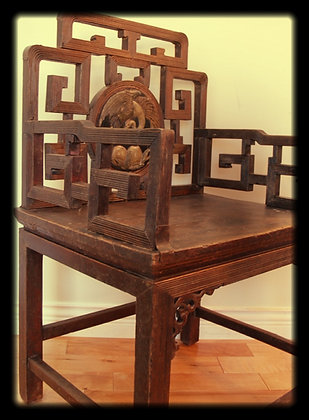 Antique Walnut Wood Chair