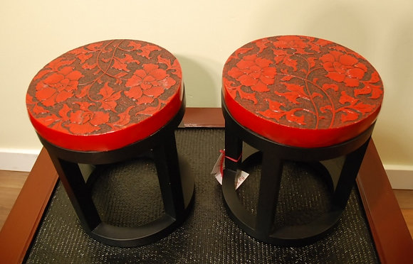 Red Stone top, Stool