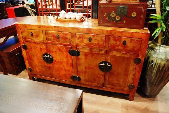 Antique 4 Drws 4 Drs Cabinet