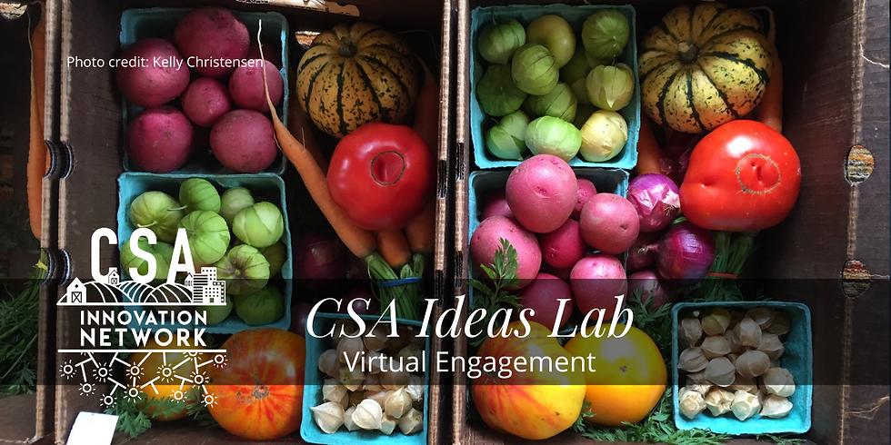 CSA Ideas Lab: Virtual Engagement