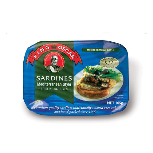 King Oscar Sardines Mediterranean Style 106g