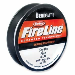 Fireline 8lb Crystal Braided Beading Thread 50yd