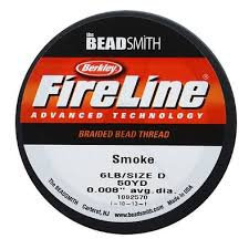 Fireline 6lb Smoke Braided Beading Thread 50yd