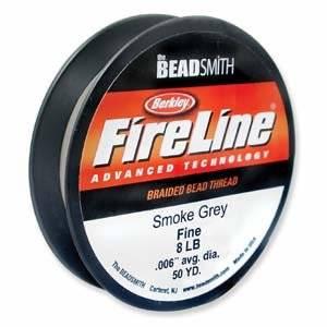 Fireline 8lb Smoke Braided Beading Thread 50yd