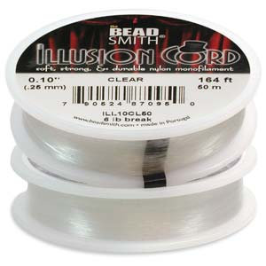 Illusion Cord .010 Dia Clear 50 Meter Spool