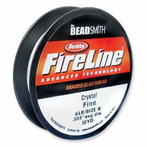 Fireline 6lb Crystal Braided Beading Thread 50yd