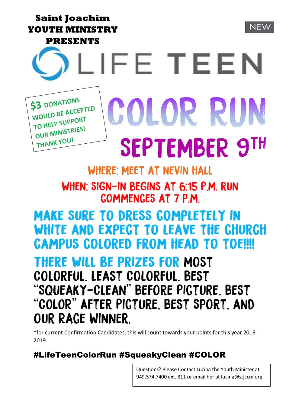 Join us for our Life Teen Color Run!