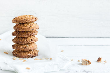 Homemade oatmeal cookies with flax and s