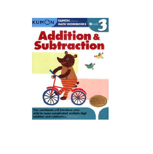 Libro Kumon Addition and subtraction grade 3