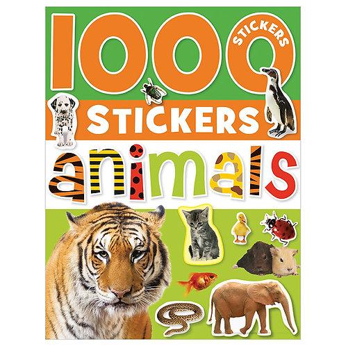 Libro De Actividades 1000 Stickers Animals