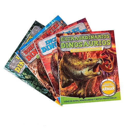 Libro Dinosaurios Pack De Stickers
