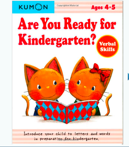 Libro kumon: Are you ready for the kindergarten: Verbal skills
