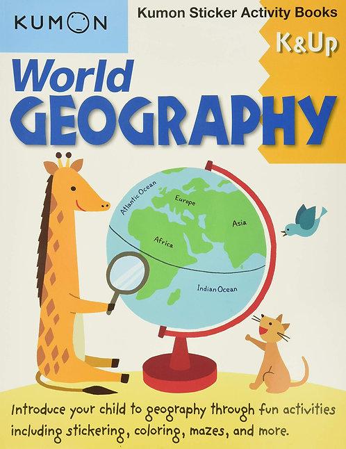 Libro Kumon World Geography K & Up Sticker Act