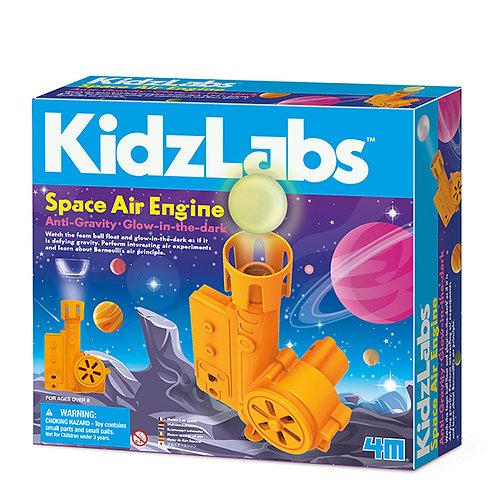 Experimento de juguete :  Maquina de aire en el espacio