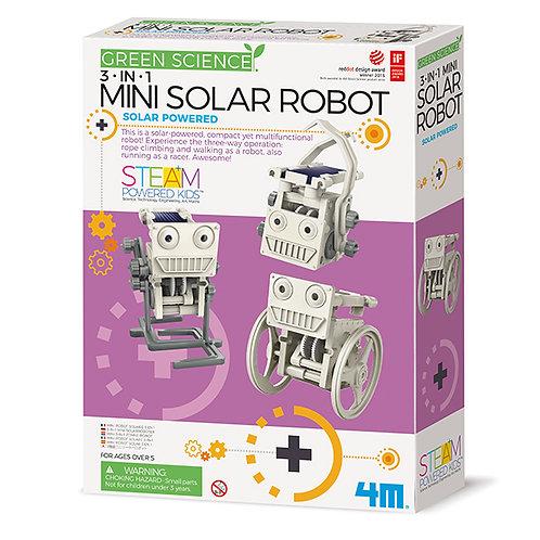 Experimento Mini robot solar 3 en 1