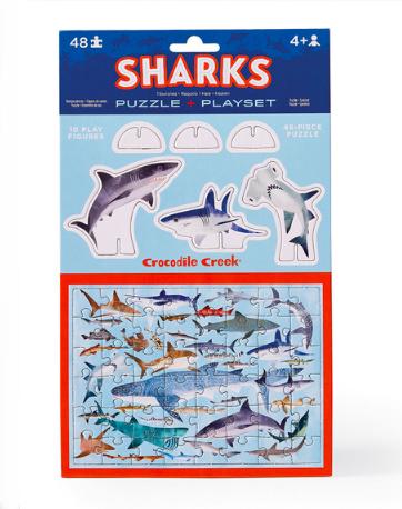 Rompecabezas X 48 pc tiburones