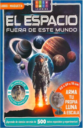 Libro Infantil 2 en 1 El Espacio Arma La Luna