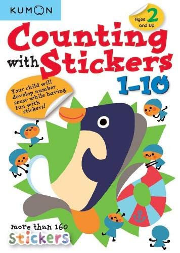 Libro Kumon  Counting With Stickers 1-10