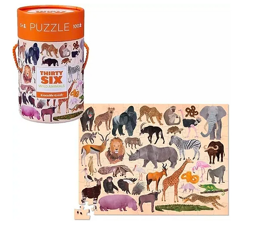 Rompecabezas 100 piezas Animales salvajes