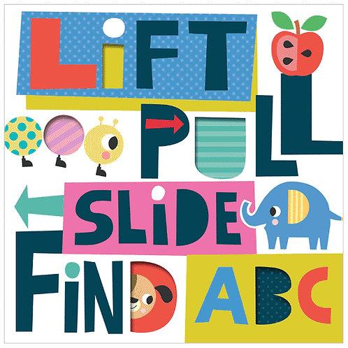 Libro Infantil Lift, pull, slide find Abc