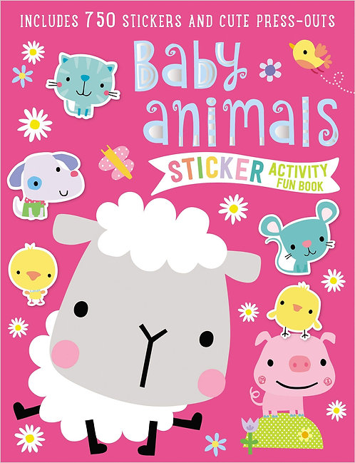 Libro De Actividades Sticker Activity Book Baby Animals