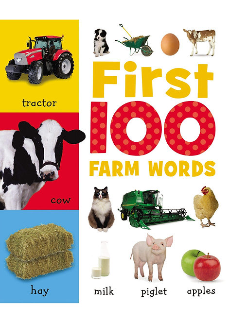 Libro Infantil First 100 Farm Words