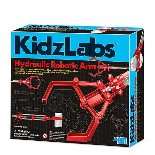 Experimento de juguete :  Brazo robótico hidráulico