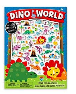 Libro inglés: Puffy stickers dino world