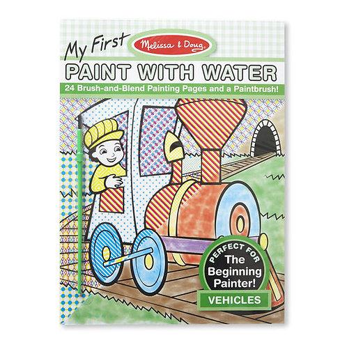 Libro De Actividades Pintar Con Agua Vehículos