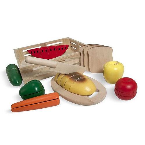 Juego de madera: Frutas para cortar