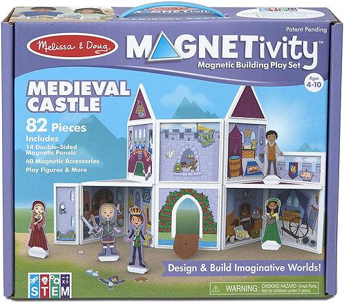 Set De Construcción Magnético Castillo Medieval